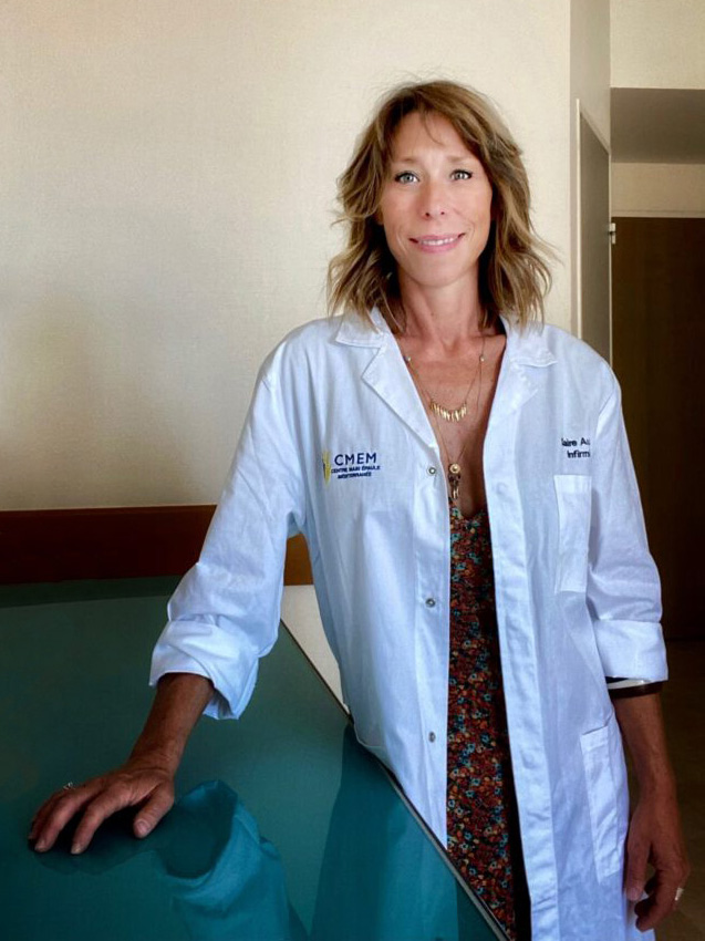 Claire Auperin - Infirmière au CMEM - Centre Main Épaule Méditerranée à Marseille
